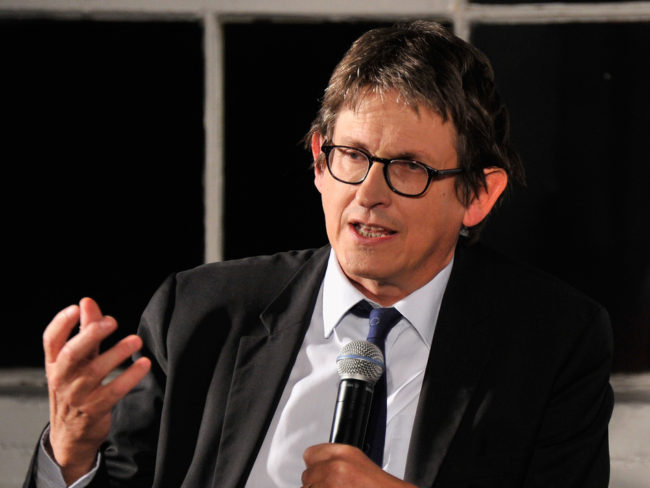 Guardian Editor-In-Chief Alan Rusbridger speaks at a debate about the newspaper's NSA coverage, on Sept. 19. Stephen Lovekin/Getty Images