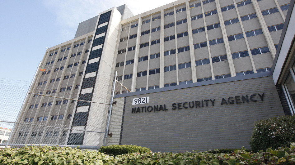 The National Security Agency building at Fort Meade, Md. Charles Dharapak/AP