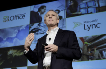 Kurt DelBene, former president of the Microsoft Office Division, talks about Microsoft Office 365 at a news conference in San Francisco, in 2010. Paul Sakuma/AP