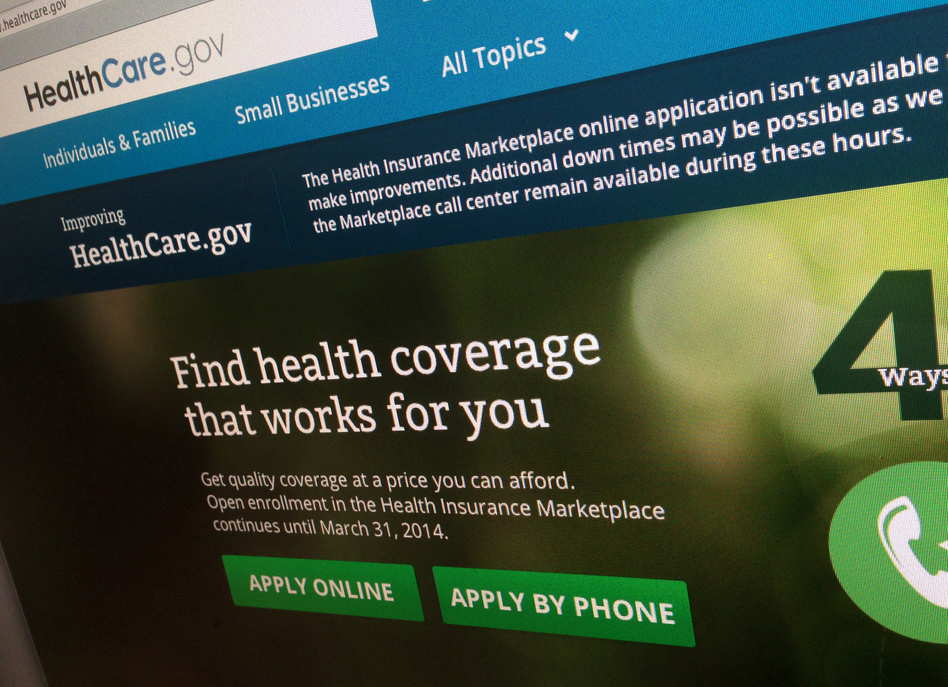 The HealthCare.gov website. Jon Elswick/ap