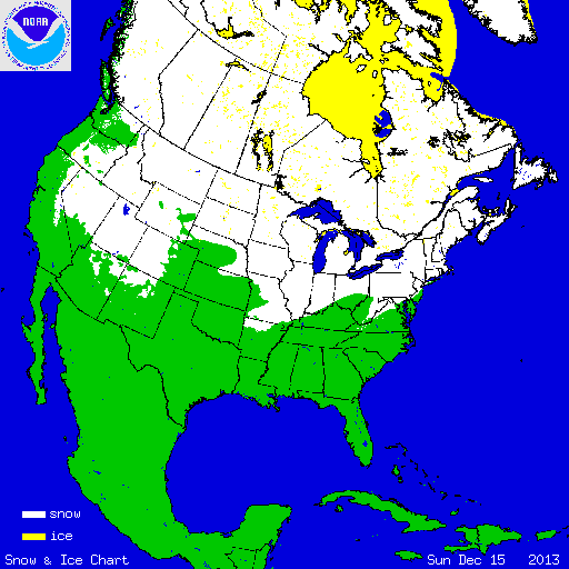 NOAA North America snow cover 12-15-13