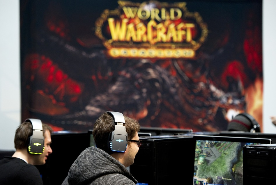 The NSA and other U.S. agencies have deployed agents into several virtual worlds, according to reports, including the online game World of Warcraft. In this file photo, gamers play at an IT fair Germany. Johannes Eisele/AFP/Getty Images