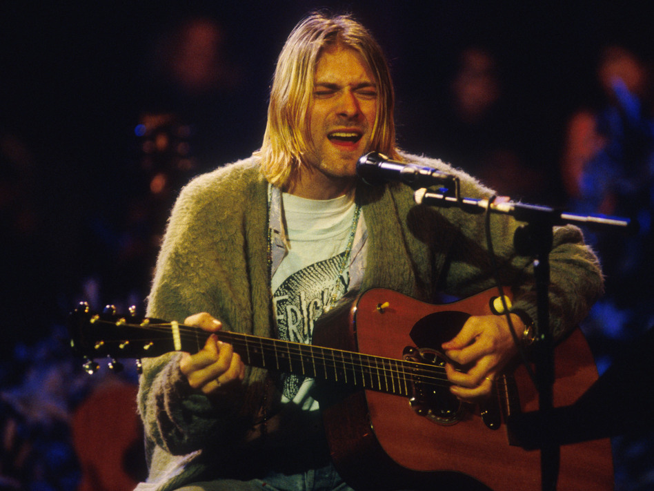 Nirvana front man Kurt Cobain in 1993. He took his own life in 1994. Frank Micelotta/Getty Images