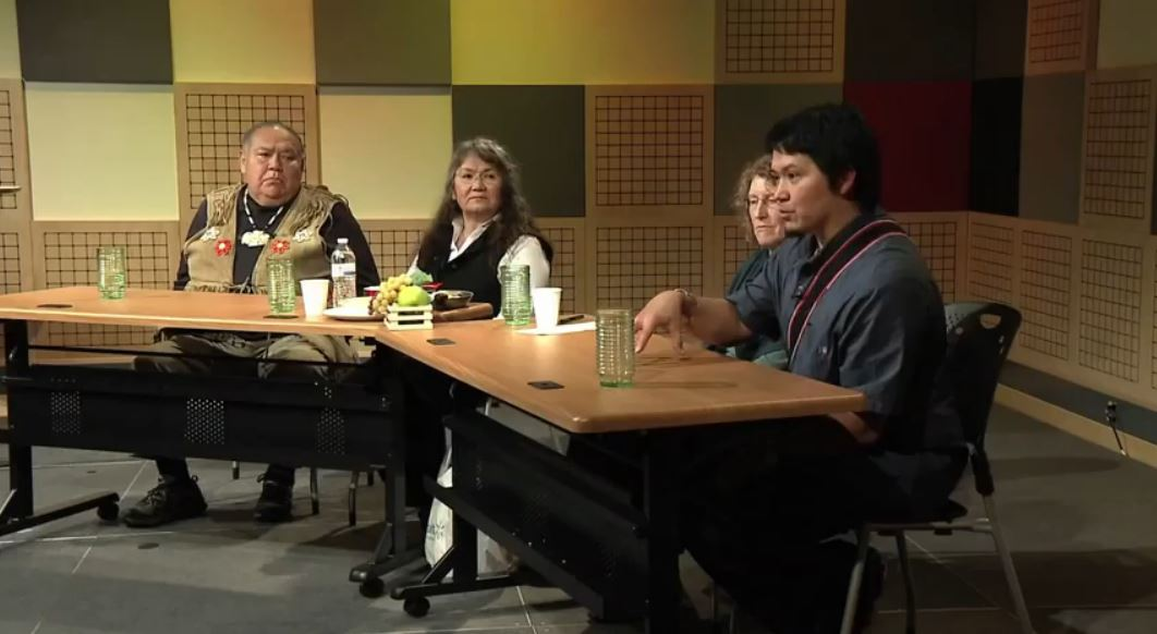 David Katzeek, Marsha Hotch, Alice Taff, and Lance Twitchell are guests on Forum@360: Living the Language. (Video still from Forum@360: Living the Language)