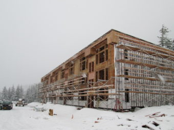 West Juneau's Island Hills under construction in January 2013. (Photo courtesy Wayne Coogan)