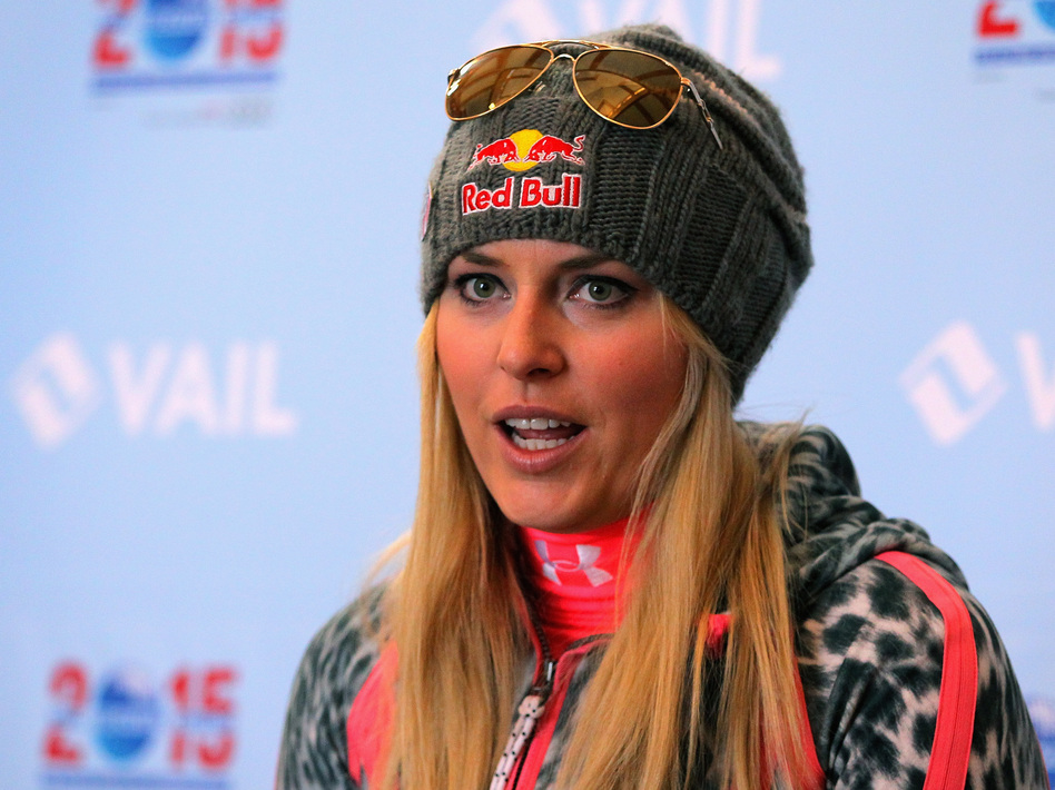 Skier Lindsey Vonn in November, before her latest injury. Doug Pensinger/Getty Images