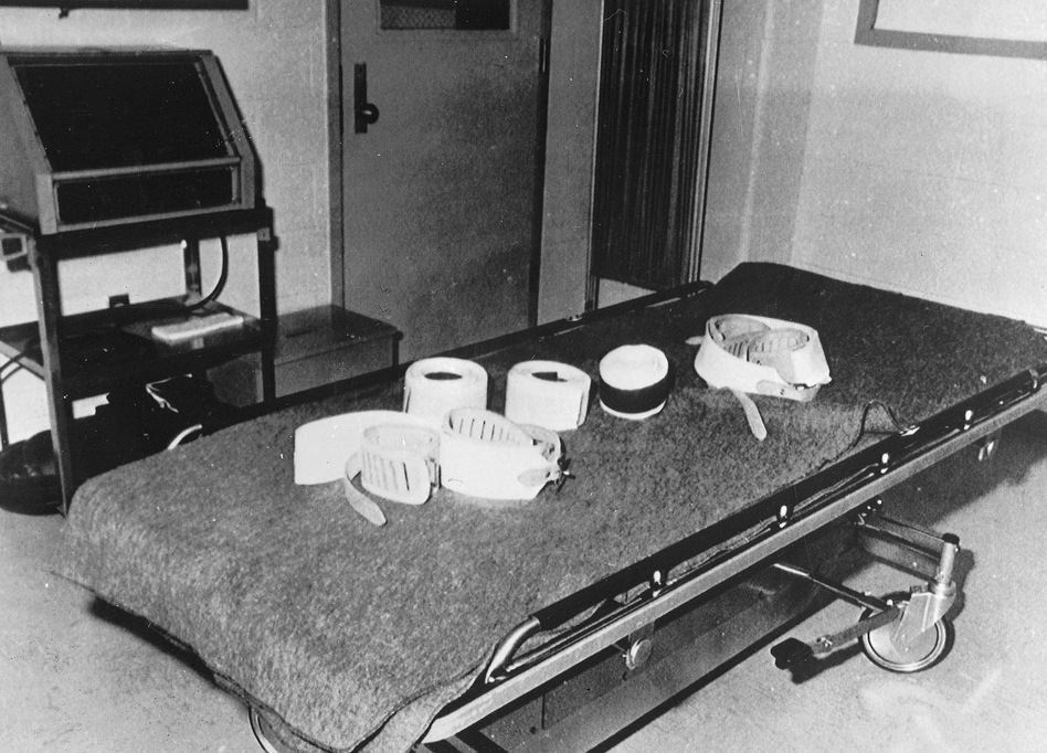 This is the execution room at the Potosi Correctional Center in Potosi, Miss., as it looked on Jan. 17, 1990. Death by lethal injection was the method used at the prison. AP