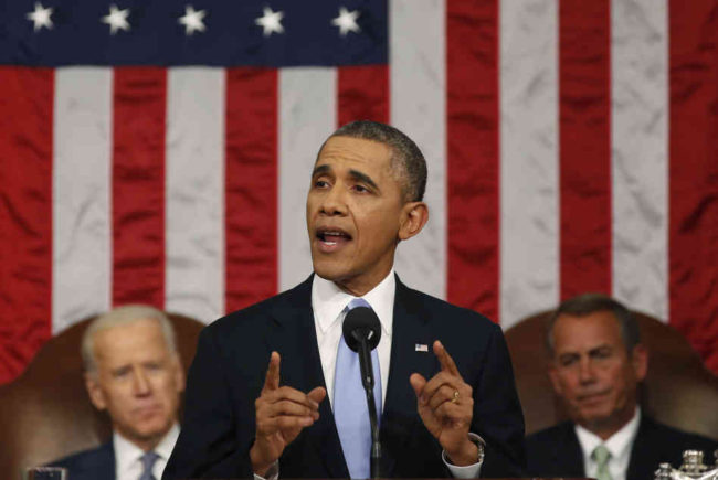 President Obama delivers his State of the Union address to a joint session of Congress on Tuesday. Obama discussed a range of topics including education, income inequality, climate change and immigration reform. Larry Downing/Pool/Getty Images