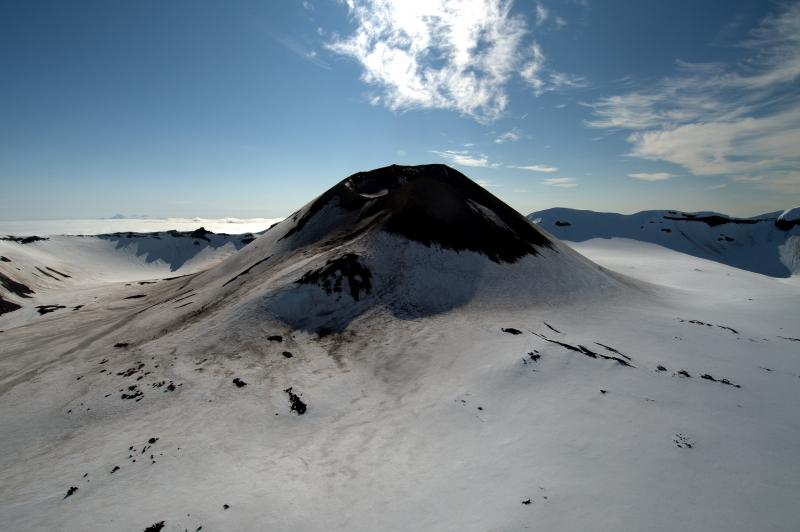 The central cone in Akutan Caldera. (Photo courtesy of Cyrus Read, USGS)