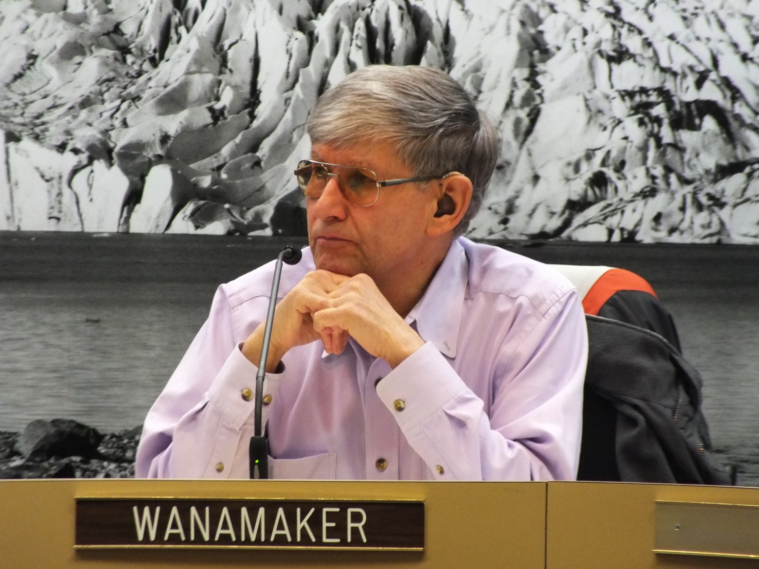 Assemblyman Randy Wanamaker chairs the Juneau Assembly Public Works and Facilities Committee, which endorsed a city Project Labor Agreement review process on Monday. Photo by Casey Kelly/KTOO.