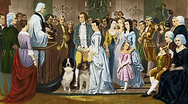 Wedding of George and Martha Washington, 1758