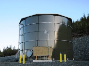 The Kasaan Water Treatment Plant, built in 2012, was a partnership of Kasaan, USDA, Alaska Native Tribal Health Consortium, and state of Alaska. (Photo courtesy USDA)