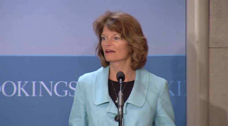 Lisa Murkowski spoke at the Brookings Institute on Jan. 7, 2014. (Image via YouTube)