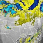 It's been a big storm: The worst may have passed, but an early Friday satellite image shows that bad weather still stretched across much of the nation. National Weather Service