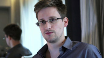 Edward Snowden, seen here in a photo provided by The Guardian, was nominated for the Nobel Peace Prize by two Norwegian politicians. AP