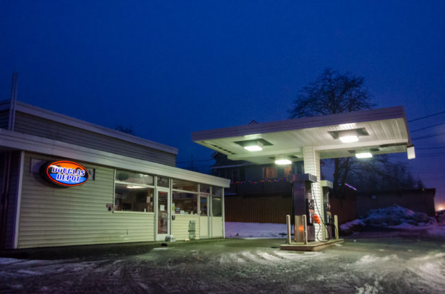 Douglas locals will have to go elsewhere for morning coffee now that the convenience store at Douglas Depot is shut down. (Photo by Heather Bryant/KTOO)