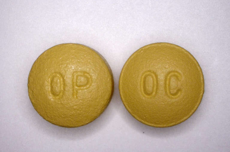 OxyContin pills. Picture courtesy  U.S. Drug Enforcement Agency.