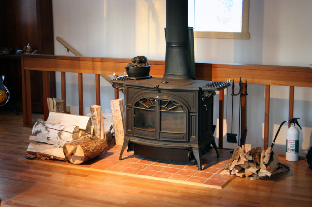 Wood stove (Photo by Christen Bouffard)
