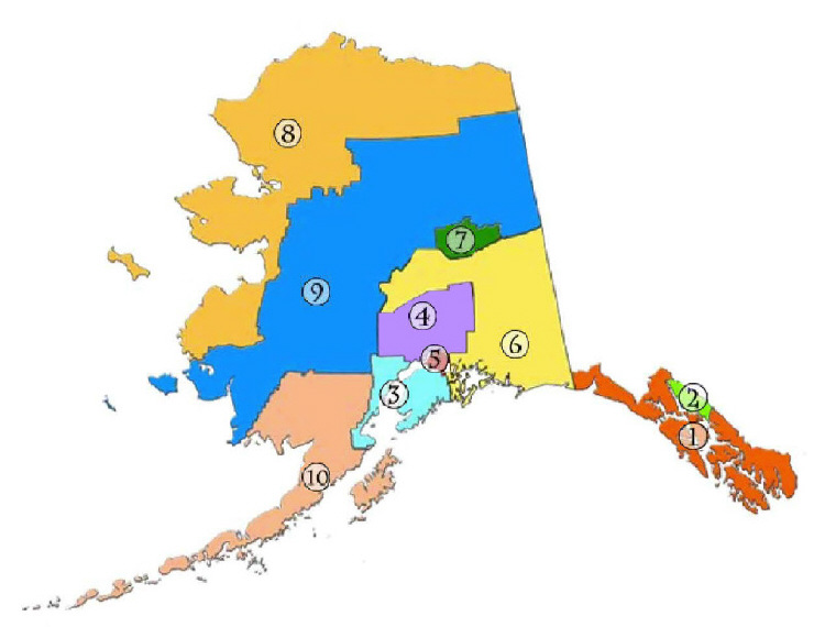 Alaska Municipal League District Map. (Image courtesy AML)