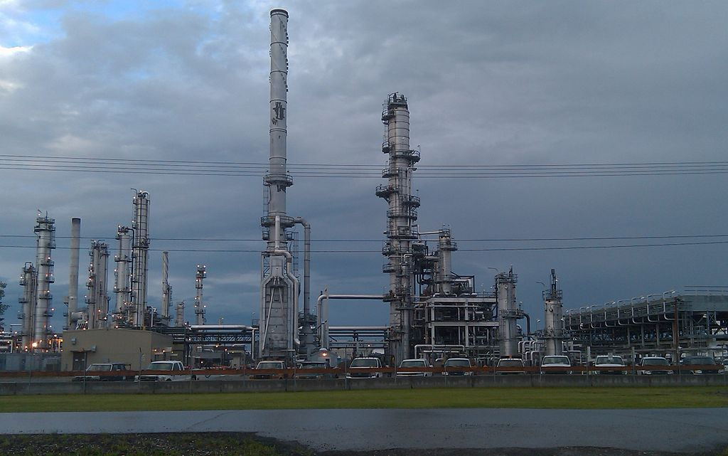 The Flint Hills refinery in North Pole, AK is one of the areas largest employers. (Wikimedia Commons photo)