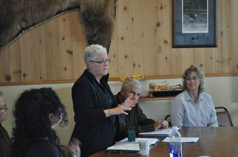EPA head, Gina McCarthy hears testimony from Iliamna & Newhalen residents regarding the Pebble Mine project. (Photo courtesy KDLG)