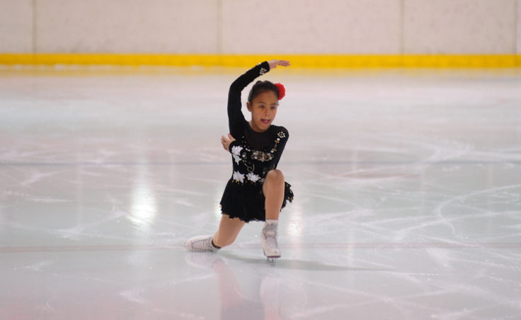 Dominque Morley was the first of two skaters to perform in the Free Skate 1 category at Treadwell Ice Arena.