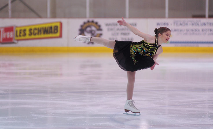 Katherine Fritsch glides during her performance.