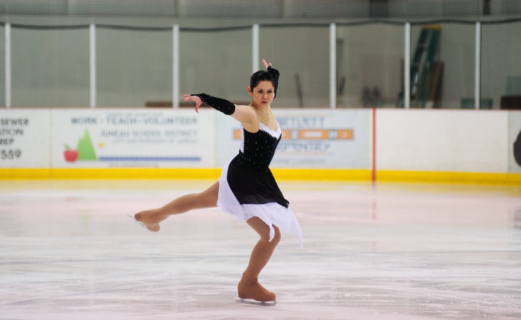Maggie Frank strikes a pose during her Adult Silver division routine.