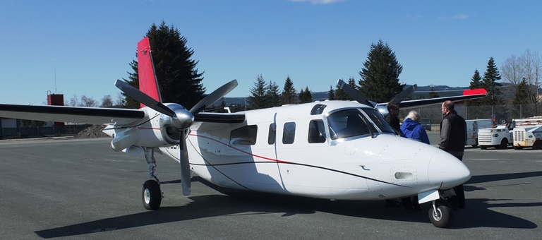 Airlift Northwest has added a Turbo Commander to the Southeast Alaska fleet, for access to communities where the Lear Jet can't land. Photo by Dick Isett.