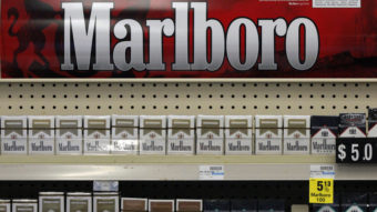 Soon to be gone: Marlboro cigarettes on display at a CVS store in Pittsburgh last July. Gene J. Puskar/AP