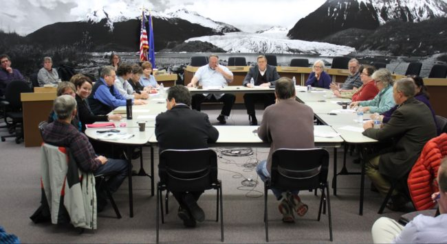 The Juneau Assembly met with the hospital board to discuss the severance packages of former hospital officials. (Photo by Lisa Phu/KTOO)