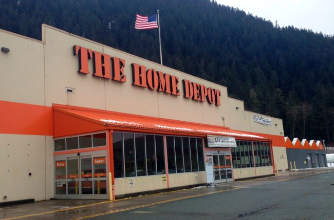 Juneau's Home Depot is looking to hire 45 seasonal employees for the spring. (Photo by Casey Kelly/KTOO)