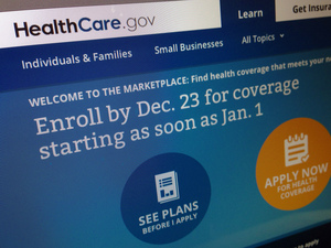 The HealthCare.gov website has been a source of delays and confusion for those trying to sign up for health insurance under the ACA. Jon Elswick/AP