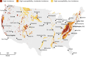 Source: U.S. Geological Survey. Credit: Alyson Hurt/NPR