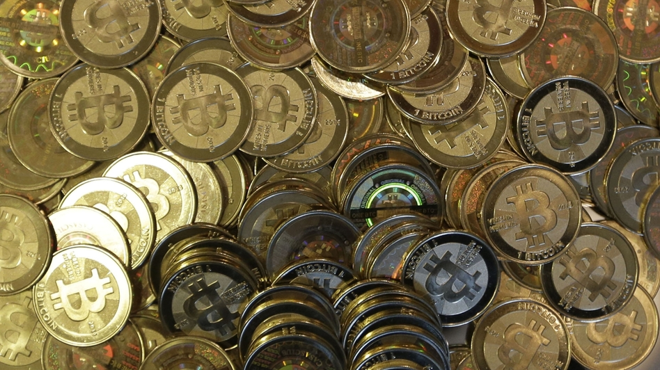 A photo of tokens representing bitcoins. Rick Bowmer/AP
