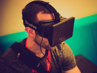 The Oculus Rift virtual reality goggles make for an immersive experience. Nan Palmero/Flickr
