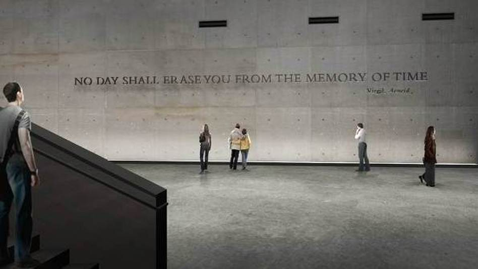 An artist's image of the wall that will separate the public from the repository where unidentified remains will be kept at the National September 11 Memorial Museum in Manhattan. 911memorial.org