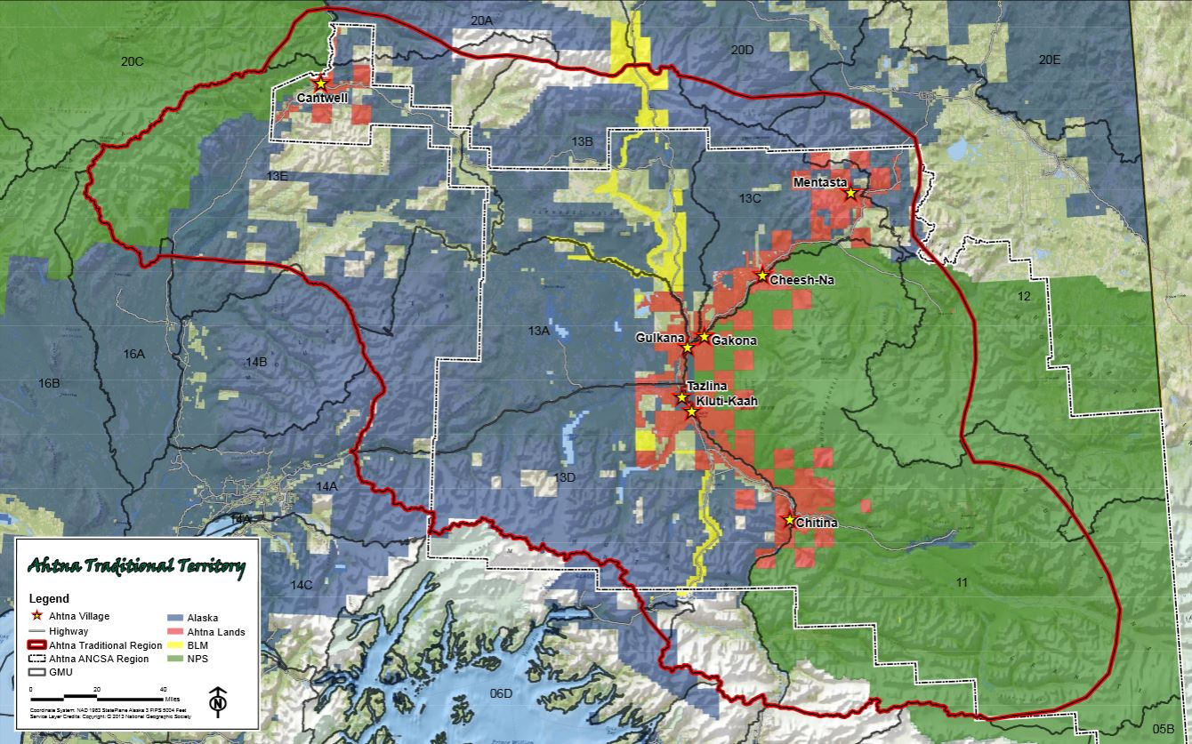 Map of area Ahtna proposes for co-management with federal and possibly state game managers.