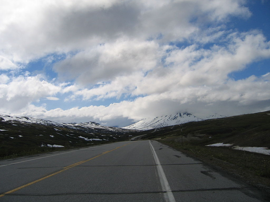 Chilkat Pass along the Alaska Highway. (Wikimedia Commons)