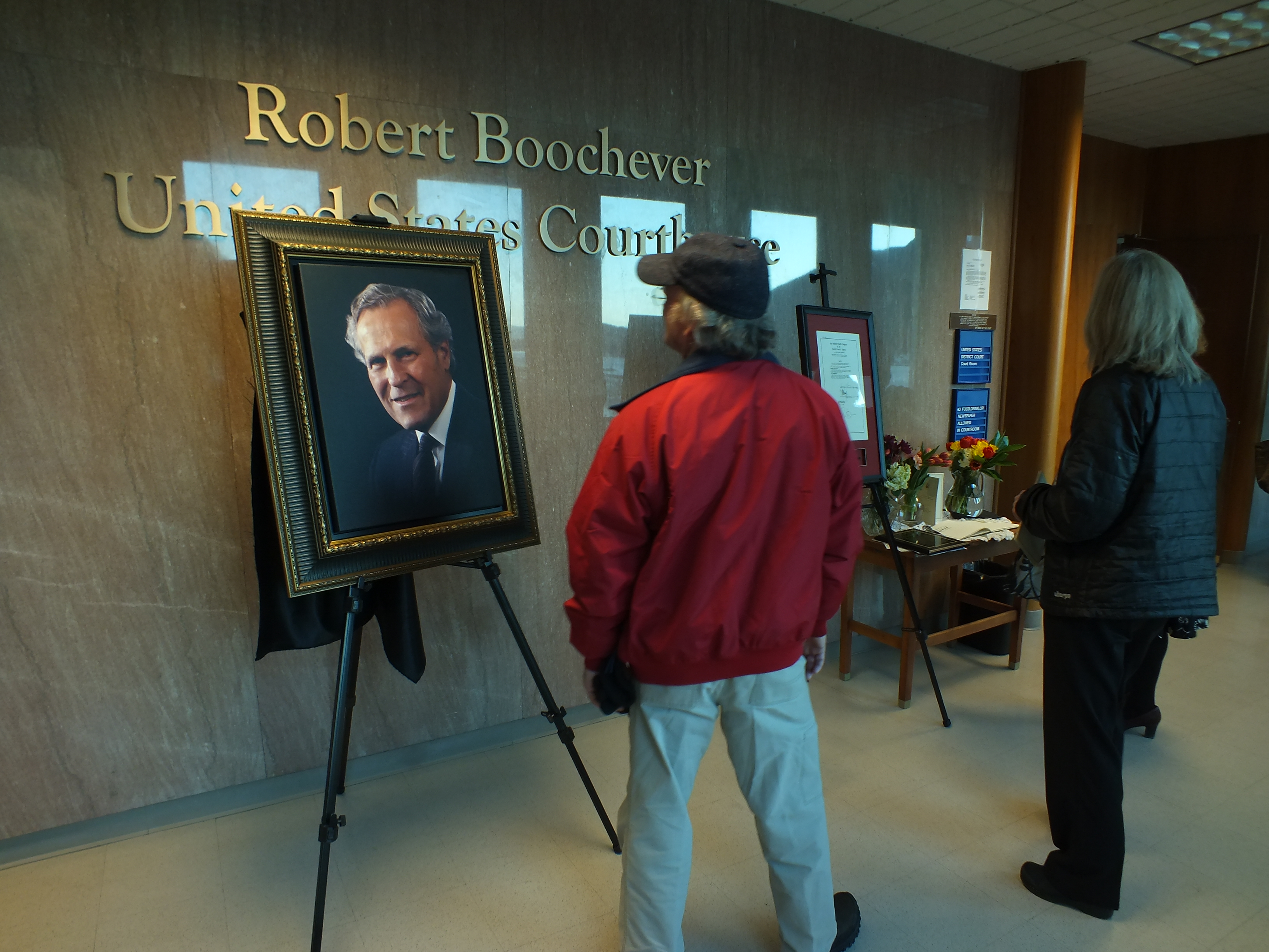 Robert Boochever U.S. Courthouse is located on the ninth floor of the Hurff Ackerman Saunders Federal Building in downtown Juneau.  (Photo by Matt Miller/KTOO)
