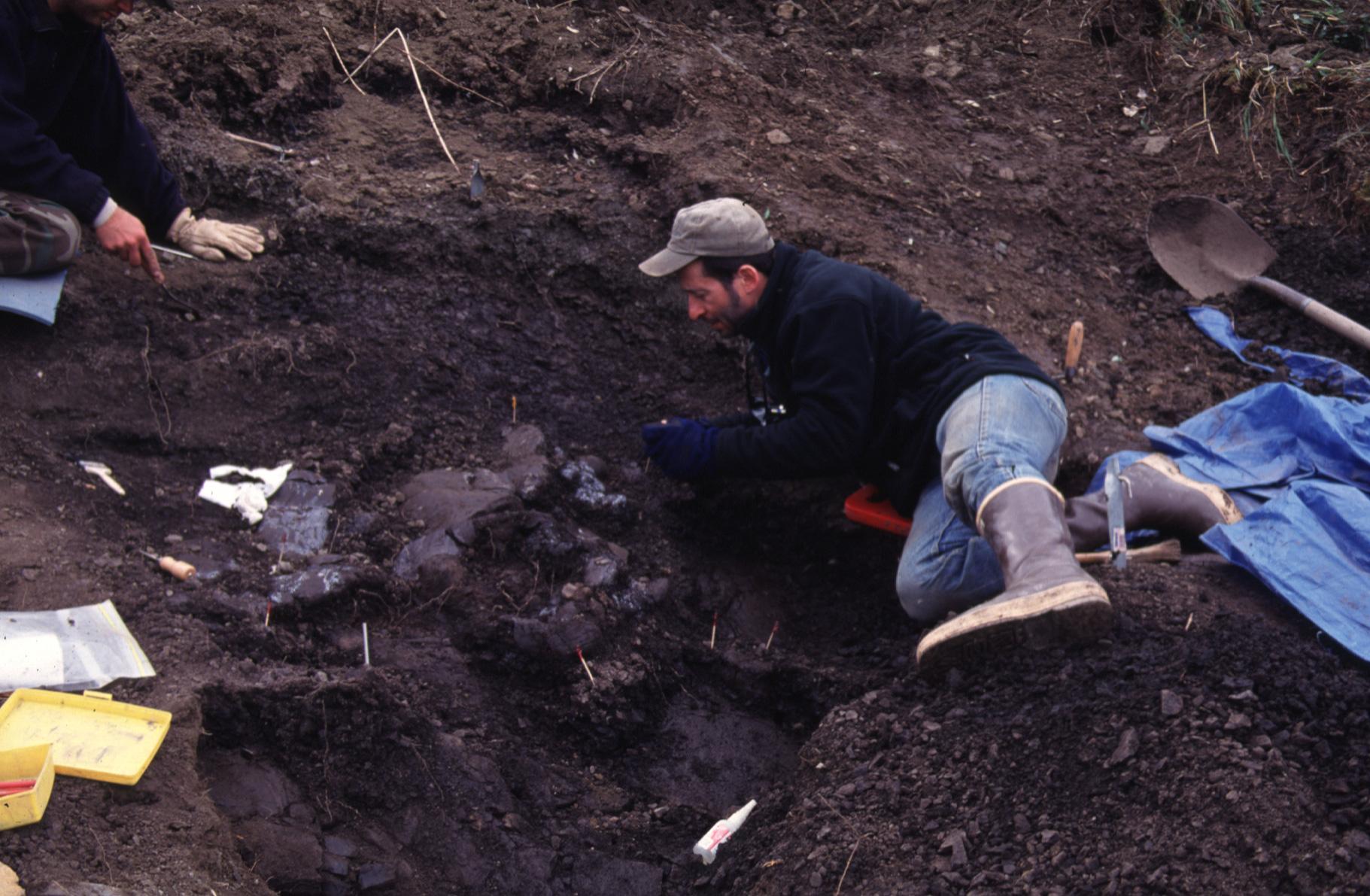 Tony Fiorillo on the North Slope of Alaska, where he discovered a pygmy tyrannosaur. (Photo courtesy Tony Fiorillo)