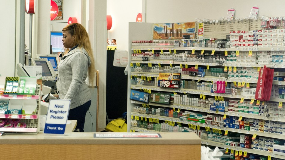 CVS announced last month that it would no longer sell cigarettes and tobacco products in its stores beginning Oct. 1. Karen Bleier/AFP/Getty Images