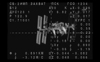 The Soyuz approaches the International Space Station. NASA