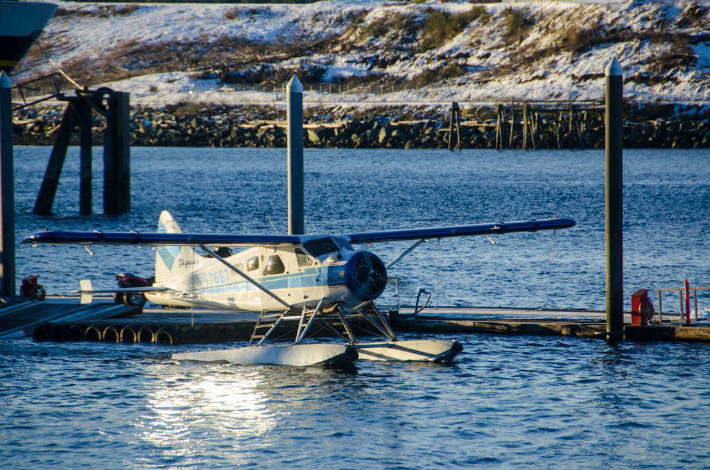 A small aircraft prepares for take off near the Ketchikan Airport. (Photo by Heather Bryant/KTOO)