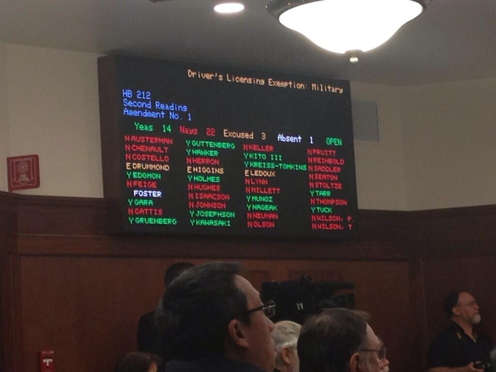 The vote on the same sex partner amendment. (Photo by Lisa Phu/KTOO)