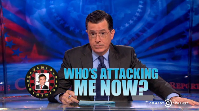 Stephen Colbert responded to criticism about a tweet about his show from his TV network Monday, saying he would dismantle the imaginary foundation that created the stir. Comedy Central