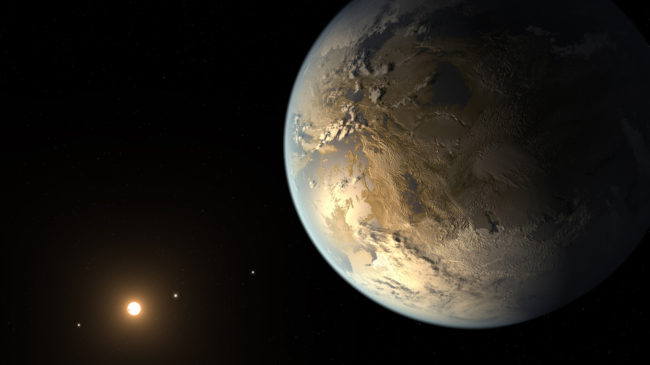 An artist's rendering of Kepler-186f, the first validated Earth-size planet to orbit in the habitable zone of a distant star. T. Pyle/NASA/SETI Institute/JPL-Caltech