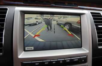 The 2009 Ford Flex vehicle showing the rear-camera view. Andy Cross/Denver Post via Getty Images