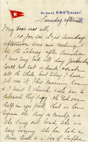 A letter written aboard the Titanic on the day that it sank sold at auction for around $170,000 in England Sunday. (Henry Aldridge & Son)