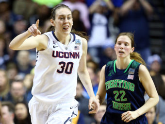 They're No. 1: Breanna Stewart of the Connecticut Huskies reacts after a score during Tuesday night's game against Notre Dame. Her team won its ninth national championship. Andy Lyons/Getty Images